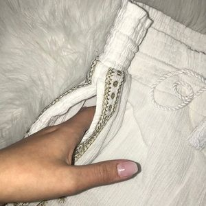 J. Crew Shorts - NWOT J.Crew White with Gold Stretchy Shorts